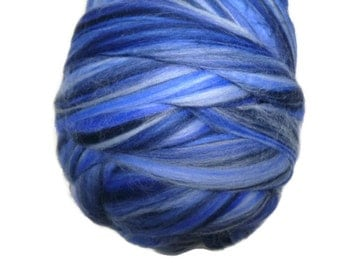 Superfine Merino roving 19 microns ,colour blend (Ocean)