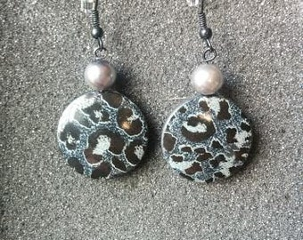 Silver Cheetah Earrings
