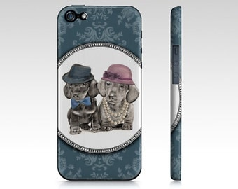 Teckel phone case for iPhone 5/ 5S, iPhone 6/ 6S, Samsung Galaxy s3, Samsung Galaxy s4 or Samsung Galaxy s5- dachshund dogs phone case.