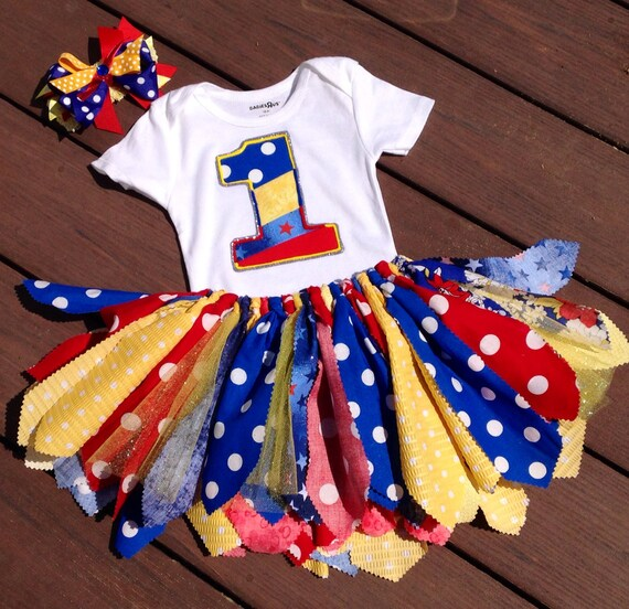 Carnival Birthday Red Yellow Blue Birthday Outfit By LilNicks