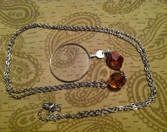 Farseer Crystal/Silver Monocle Necklace