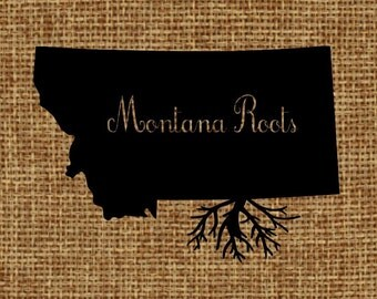 Burlap frame-able art - Montana Roots