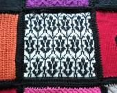 READY TO SHIP! Limited Edition Handknit 12-panel Sherlock Blanket
