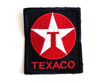 Texaco Embroidered patches cut edge Sew / Iron On Patch Badge