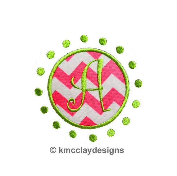 Circle Dot Frame Machine Embroidery Applique Design Instant