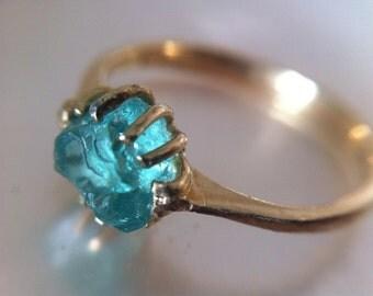 Rough Gemstone Ring Etsy