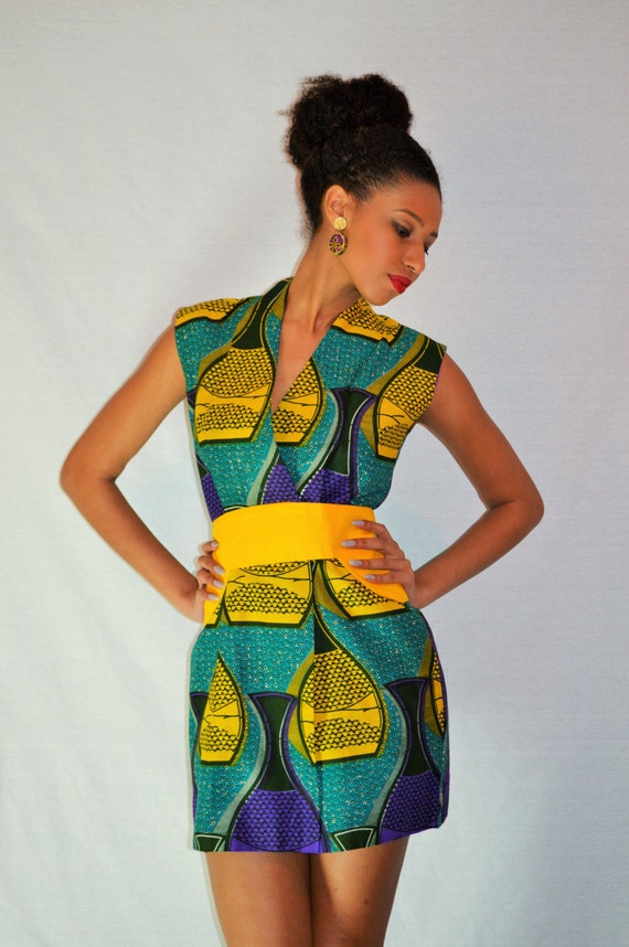 Items Similar To Gorgeous African Print Dress Ohemaa On Etsy