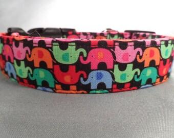 Lucky Elephants Dog Collar