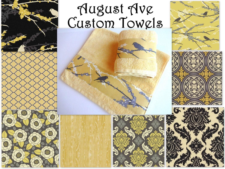 Yellow And Grey Towels Hand Towels Towel Sets Bath Towels