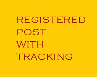 Registered Post Charge Shipping worldwide with tracking number - Extra fee
