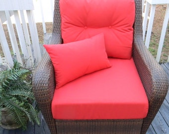 """Indoor / Outdoor Cushions for Deep Seating-Seat & Back Cushion-Free Pillow-Solid Colors - 25"""" X 24.5"""""""