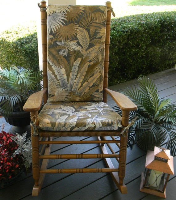 Rocking Chair 2 PC Foam Cushion Set - Fits Cracker Barrel Rocker ...