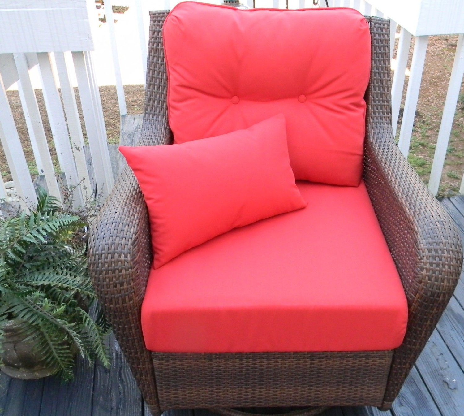 Indoor outdoor cushions for deep seating seat back - Seat cushions for patio furniture ...