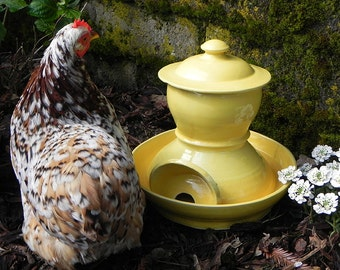 Ceramic Chicken Waterer