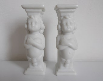 Hertwig Antique Miniature Bisque Porcelain Columns