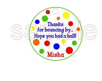 DIGITAL PDF FILE - You Print Personalized Birthday Inflatable Bounce House Party Gift Tags
