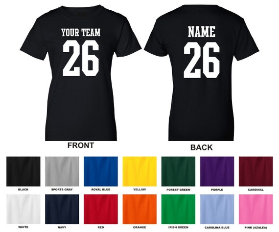 Personalized custom your team name and number football for Custom t shirts for teams