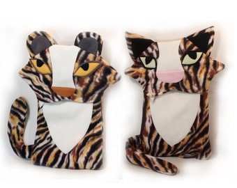 Tiger Pair of Cozy Covers - Hot Water Bottle Cover + Ice Pack Cozy Cover - Get Cozy together Gift