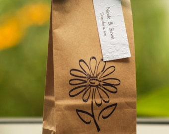 Custom Kraft Coffee Wedding Favors. Shower Favors - Spring Weddings. Party Favors. Fresh Coffee.