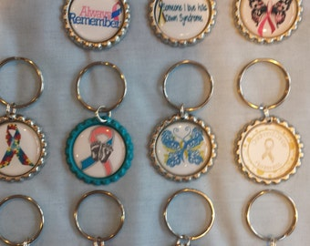 What's Your Cause Bottle Cap Key Ring