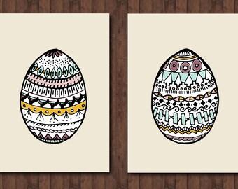 Patterned Easter Egg Set- INSTANT DOWNLOAD