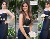 Feminine Classic Wedding Crystal Beaded Satin Sash, Bridal Belt, Rhinestone Sash - Tina Belt