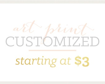 Art Print | Customized