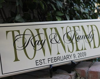 personalized family name sign last name signpersonalized last name sign family name - Custom Signs For Home Decor