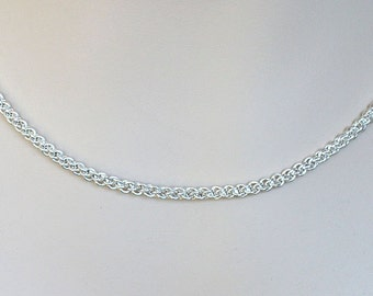 Handmade JENS PINDS Silver Necklace Chainmaille Jewelry Sterling Silver Necklace JP1 chainmail necklace chain mail jewelry real silver