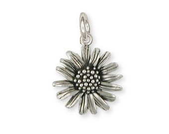 Solid Sterling Silver Daisy Flower Charm Jewelry  DY4-C