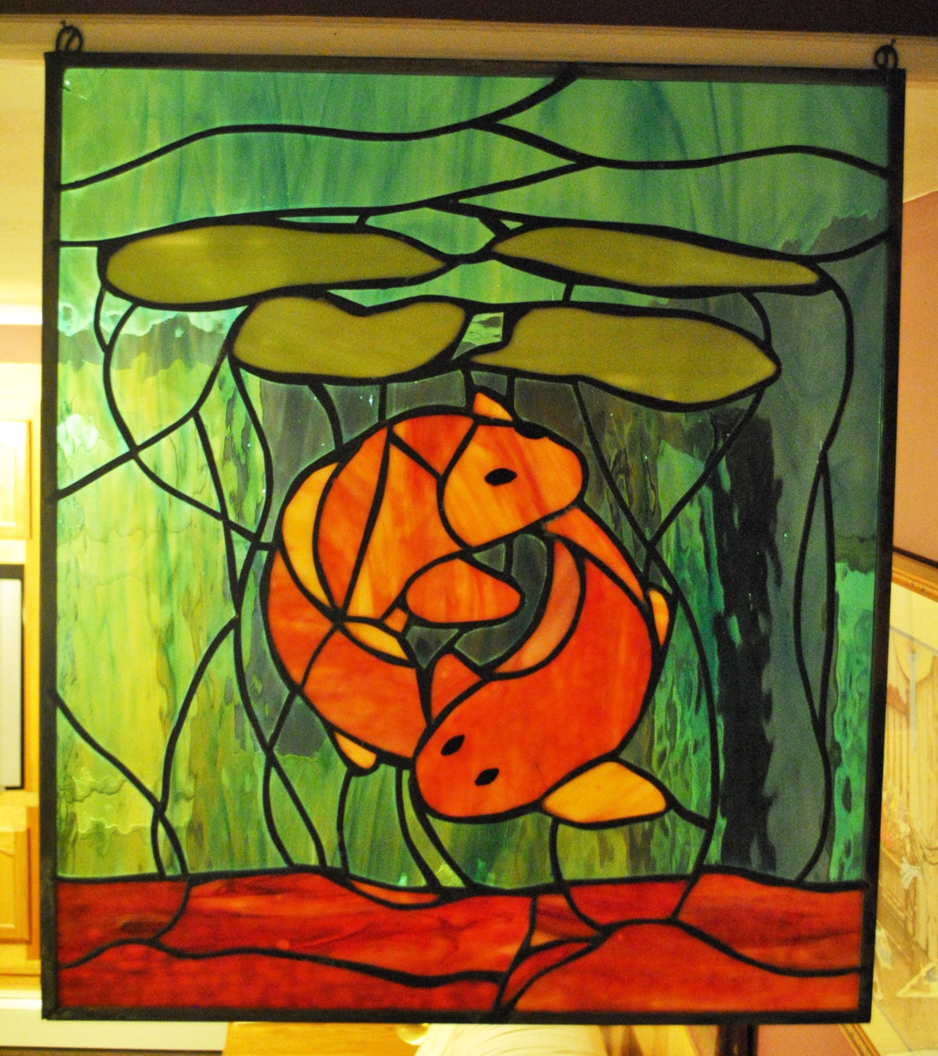 Stained glass coy fish for Stained glass fish