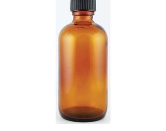 4 oz. Amber Glass Bottle with Cap
