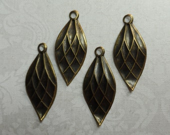 """Vintage gold/silver plate brass earring drops,1&1/4""""x1/2"""",7pcs(only 4  shown)ERG71"""