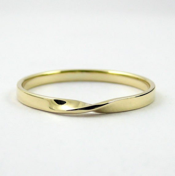 Gold Mobius Ring Infinity Ring Hallmarked Solid Gold Ring