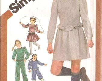 Simplicity Pattern 5771 Girls Knit Dress