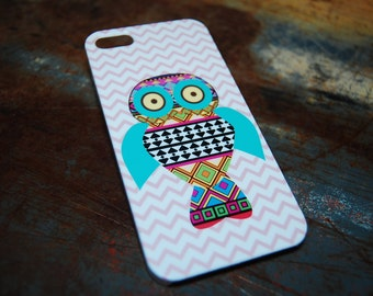 Aztec Owl Chevron Print Case For iPhone 6 / (4.7) / 4.7 / 5c / 5s / 5 / 4s / 4 Hard Plastic Owls Hoot Who Hooters Phone Cases c39