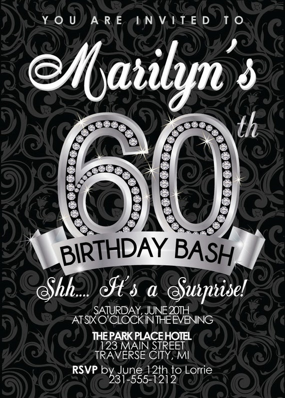 60Th Birthday Party Invitation Templates as beautiful invitation ideas
