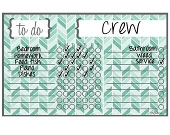 Magnetic Chore Chart, Kids Chore Magnet, Chore Magnet