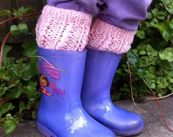 Gril leg warmers / boot cuff/ boot socks/boot topper / cuff / toddler boot cuff / toddler leg warmers/ baby leg warmers