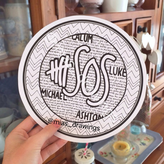 5SOS SONG TITLES LOGO DRAWING BY MIASDRAWINGS ON ETSY on The