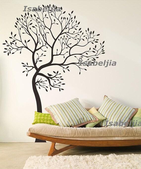 Items similar to caduta wall decal parete adesivo muro decalcomanie della parete adesivi - Stencil parete albero ...