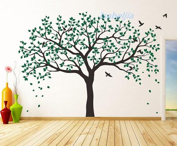 Adesivi murali wall decal adesivo parcheggiare albero di for Stencil adesivi