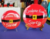 Cookies for Santa - Santa Belt Plate   2 sizes