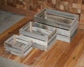 Barn Wood Milk Crate nesting set of 3