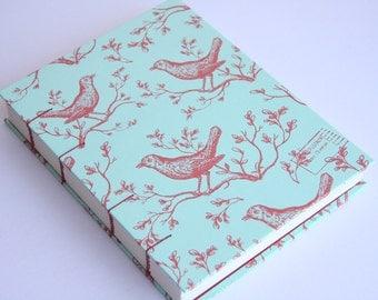 Red Birds Notebook Sketchbook or Journal // Coptic