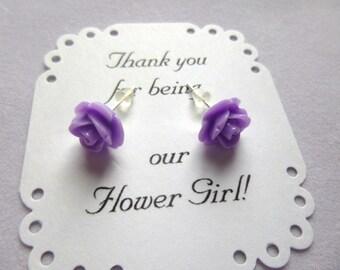 Flower Girl Earrings, Girls Earrings, Bridesmaid Earrings, Maid of Honor Earrings, Wedding Earrings, Flower Girl Gift, Flower Girl Jewelry