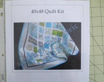 BACKYARD BABY Quilt KIT 40 x 48 Best Seller--Ready to Ship--fabrics and pattern