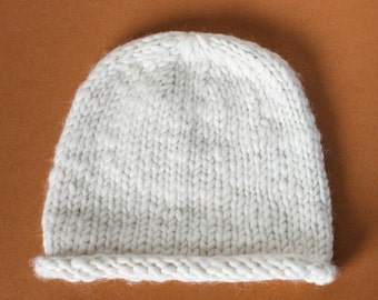 White Wool Tina Hat