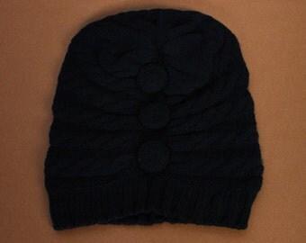 Black Bella Cashmere Hat