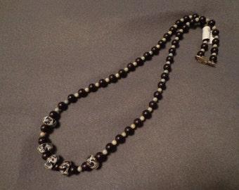 Chocolate swirl necklace